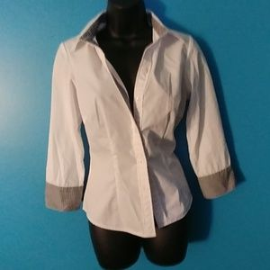 Signature by Larry Levine white blouse